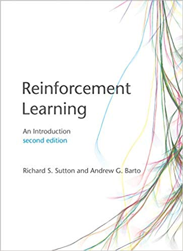 "Front Cover of ""Reinforcement Learning: An Introduction(2nd edition)"""