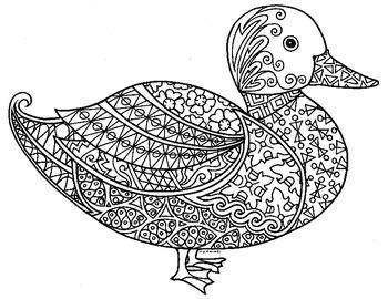 A hand-drawn zentangle