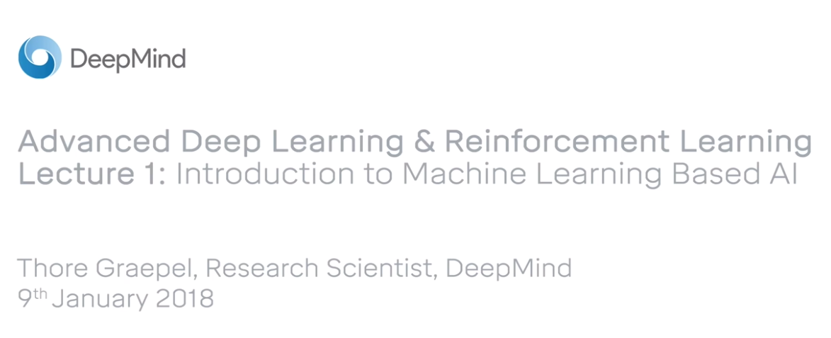 "First Lesson of ""Advanced Deep Learning & Reinforcement Learning"""