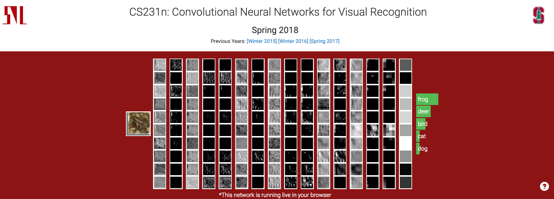 "Landing page of ""CS231n: Convolutional Neural Networks for Visual Recognition"""